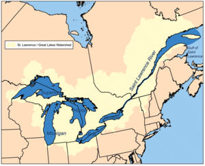 This is a map of the Great Lakes / Saint Lawre...