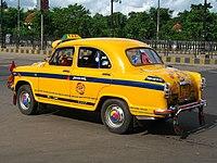Taxi Ambassador, típico de Calcuta