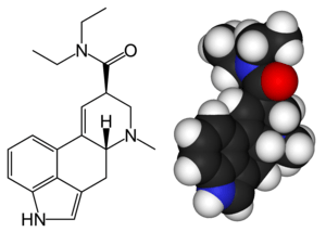 Structure of lysergic acid diethylamide (LSD)