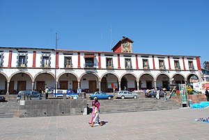 English: Municipal palace of Tlalpujahua, Mich...