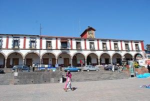 English: Municipal palace of Tlalpujahua, Mich...