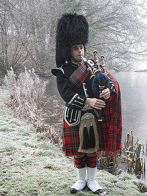 English: Piper James Geddes plays the most rec...
