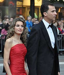 Felipe and Letizia at the wedding of Victoria, Crown Princess of Sweden, and Daniel Westling, in Stockholm, 2010