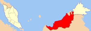 Location of Sarawak