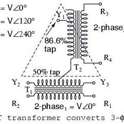 3 Phase Autotransformer Wiring Diagram Wabco Abs Scott T Transformer Wikipedia Standard Connection F To 2