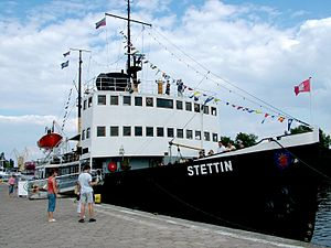 Stettin icebraker on shore in Szczecin, Poland.