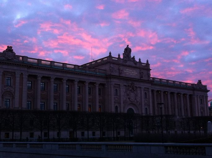 Sweden - Stockholm 54 - gorgeous winter sunset over Stockholm palace (6943551694)