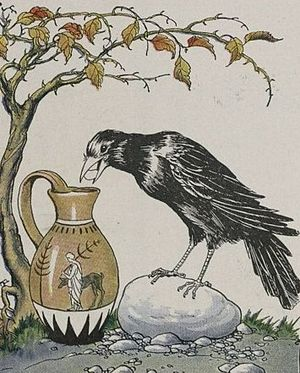 The Crow and the Pitcher, illustrated by Milo ...