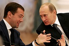 Medvedev with Vladimir Putin