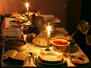 traditional Christmas Eve supper in Poland - d...