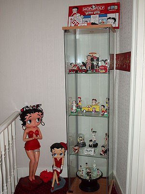 My mothers display of Betty Boop memorabilia. ...