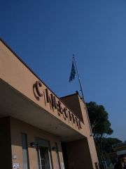 The film studios at Cinecittà in Rome played h...