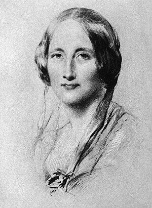 Elizabeth Gaskell, in portrait of 1851 by Geor...