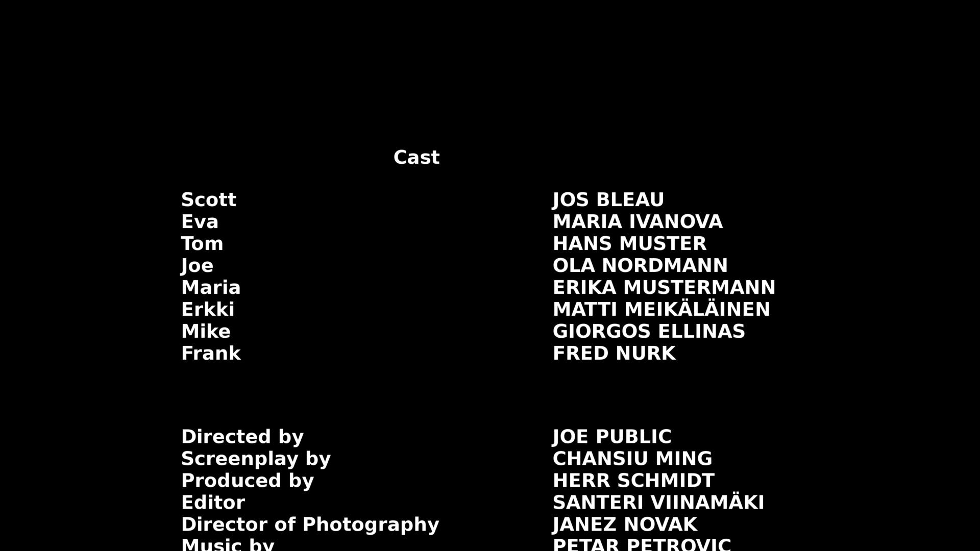 Closing Credits Wikipedia
