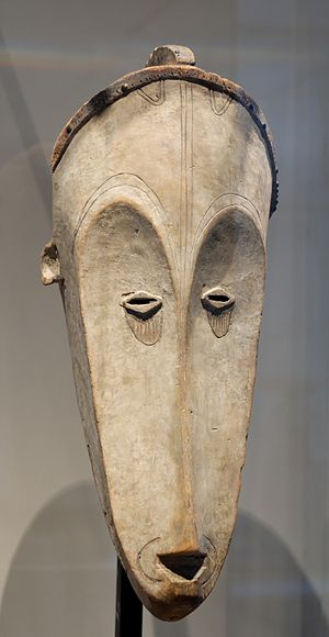 Fang mask used for the ngil ceremony, an inqui...