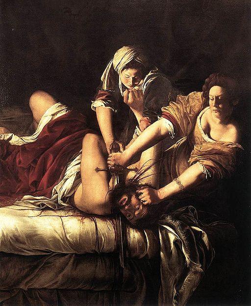"""""""Judith Slaying Holofernes"""" byArtemisia Gentileschi"""
