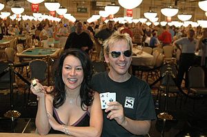 Jennifer Tilly and Phil Laak at the 2005 World...