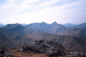 English: Knoydart View From the summit of Sgur...