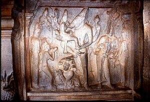 English: Varaha Avatara, Pallava Dynasty, Maha...