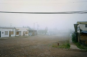 1997 or 2000. Main street Uranium City. Only t...