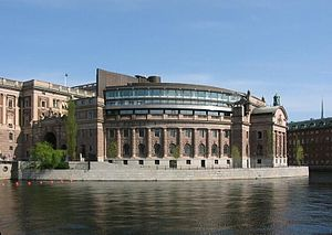 Riksdag building on Helgeandsholmen in Stockho...