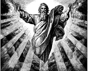 """Woodcut for """"Die Bibel in Bildern"""", ..."""