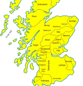 Map of Scottish Highland
