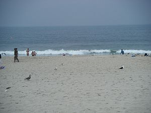 English: A view of the beach in Seaside Height...