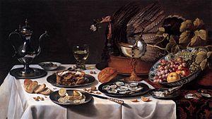 A still life by Pieter Claesz (1627)