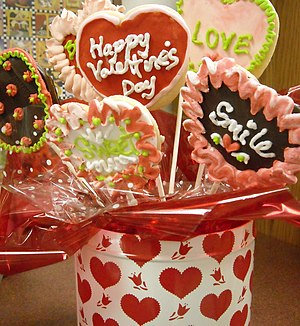 An array of Valentine's Day-connotated candy d...