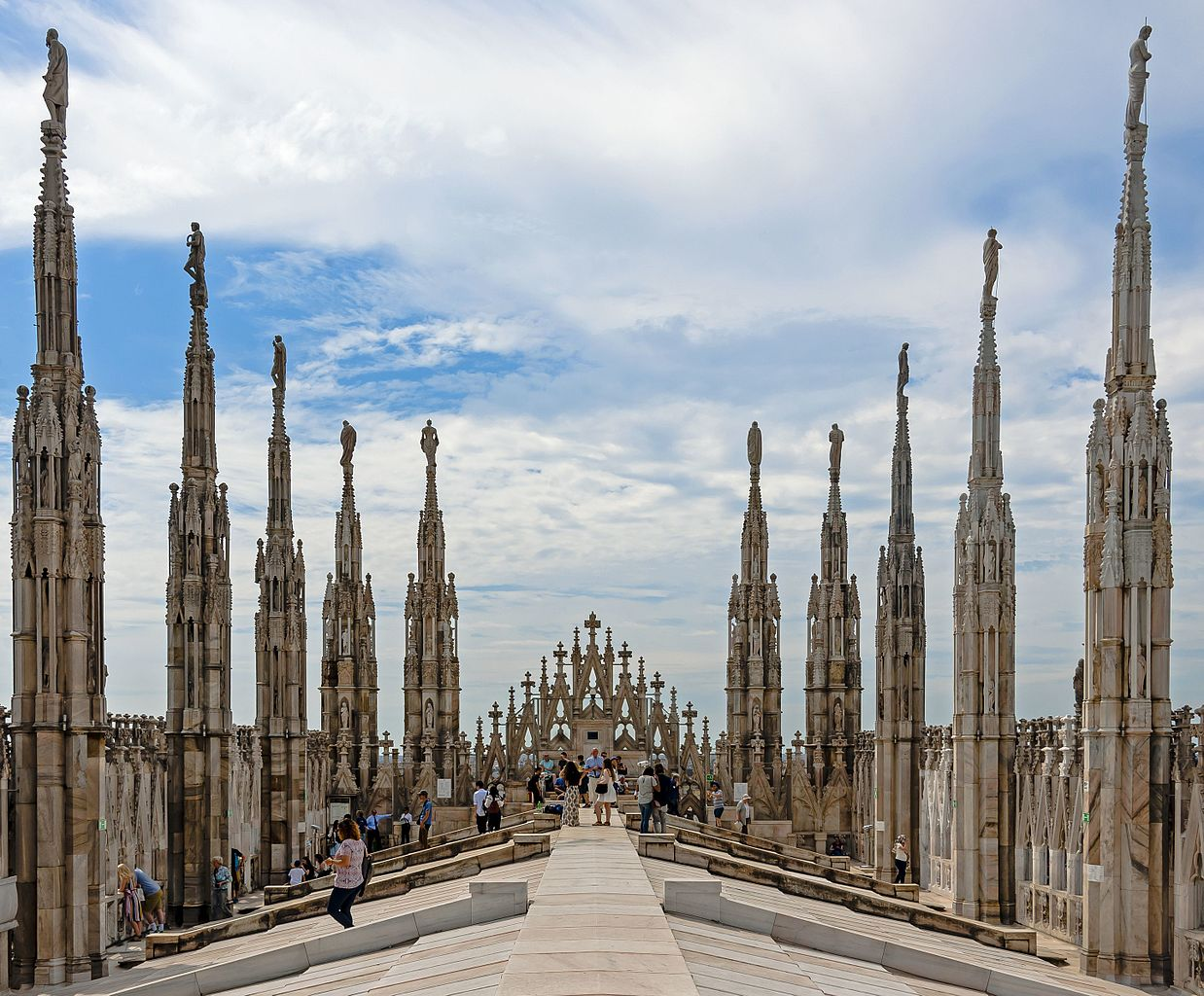 FileView west along Duomo roof Milanjpg  Wikimedia Commons