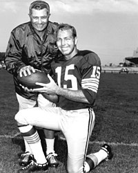 Starr With Packers Head Coach Vince Lombardi In The 1960s