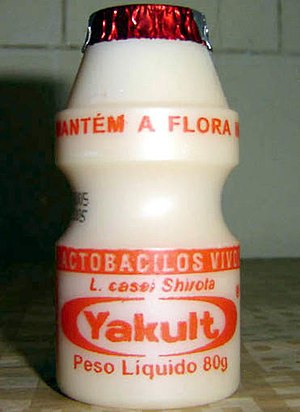 Brazilian Yakult is a probiotic milk-like prod...