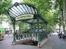 Art Nouveau Paris Metro