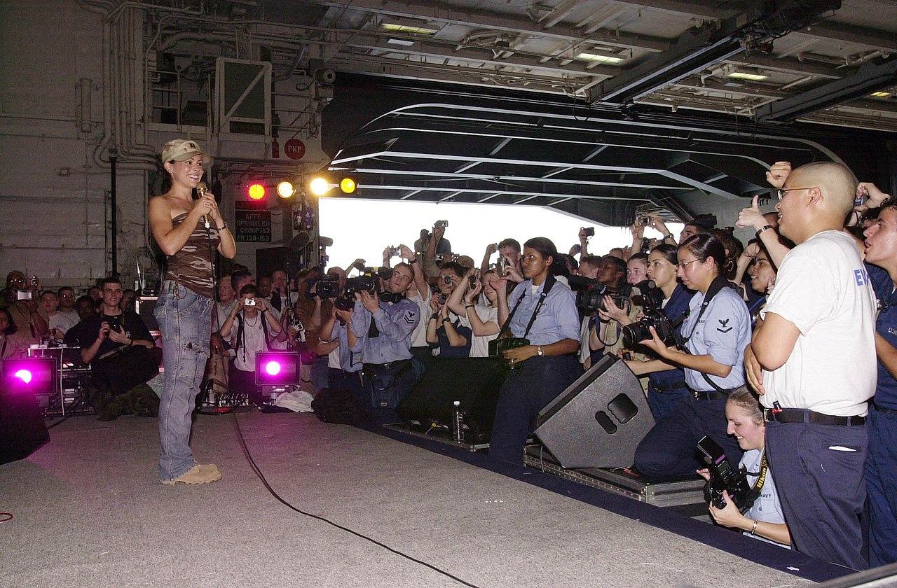 FileAlyssa Milano visits USS Nimitz june 2003 uncropped