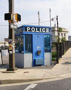 English: A fully modern Police Box in Baltimor...