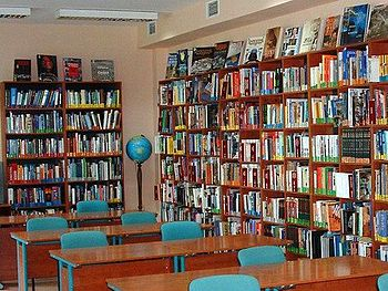 Books in Bemowo Library.