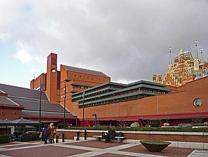 English: British Library, London WC1 Looking a...
