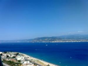 Calabria seen from Messina