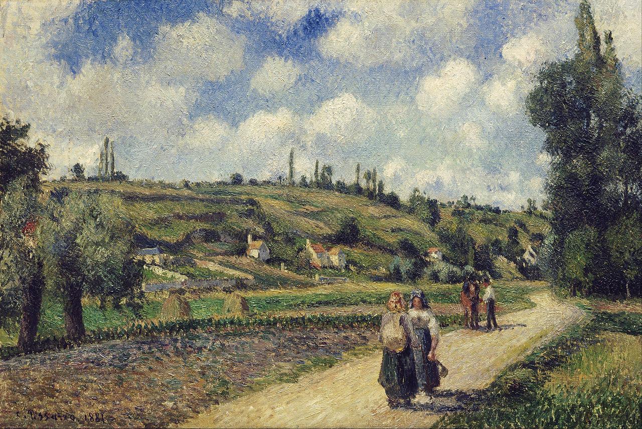 FileCamille Pissarro  Landscape near Pontoise the
