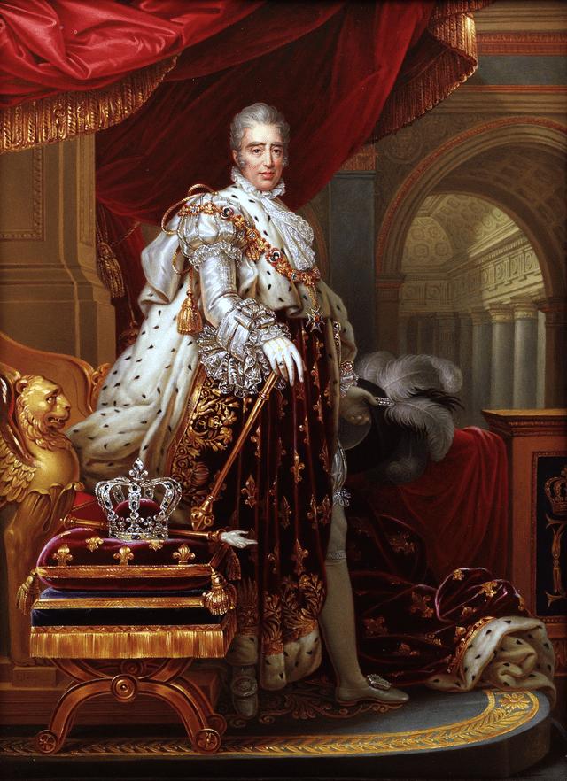 Retrato de Carlos X de Francia con atuendo de coronación