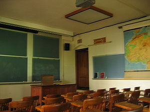 English: A university classroom. (Jones Hall a...