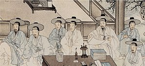 A Joseon painting which represents the Jungin ...