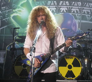 English: Dave Mustaine from Megadeth at Moscow