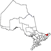 Vị trí của Ottawa trong tỉnh bang Ontario