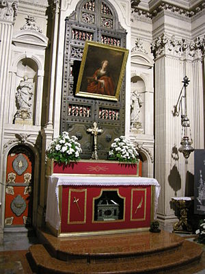Altar of Saint Lucy's chapel, in the Cathedral...