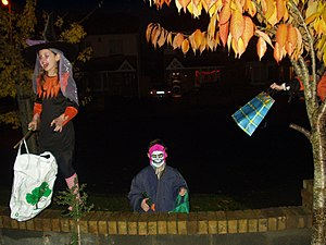 "English: A typical Halloween ""trick or tr..."