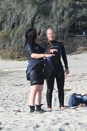 Women in wet suits