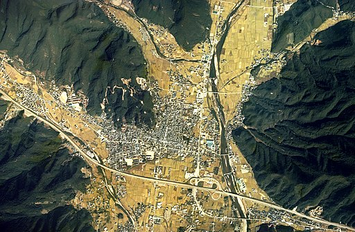 Yamasaki district Shisou city Aerial photograph.1976