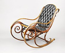 antique rocking chair oak high michael thonet - wikipedia